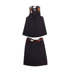 Ensemble YVES SAINT LAURENT Black Top and Skirt