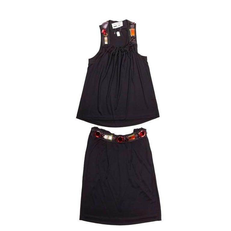 Ensemble YVES SAINT LAURENT Black Top and Skirt