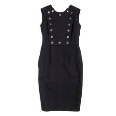 CHANEL 'Paris-Dallas' Sleeveless Dress in Black Wool Size 34 FR
