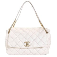 CHANEL Bag in Quilted Eggshell Color Leather