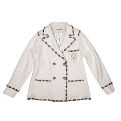 CHANEL Jacket Collection 'Paris Bombay' in White Wool Size 44FR