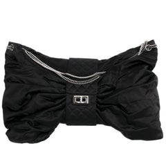CHANEL Black Duchess Satin Bag