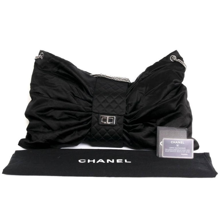 CHANEL Black Duchess Satin Bag 3