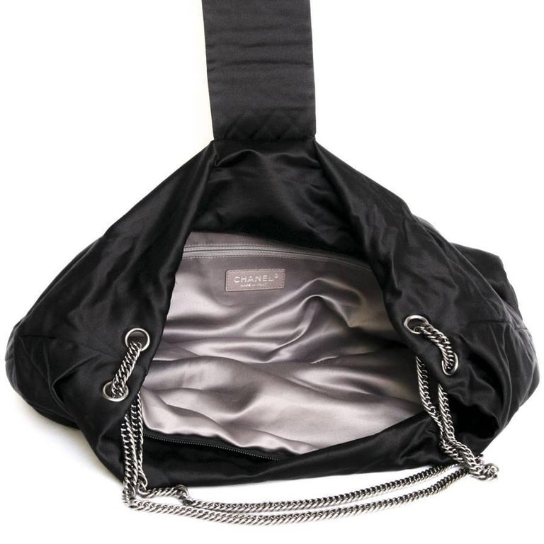 CHANEL Black Duchess Satin Bag 6