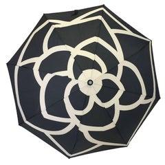 CHANEL Black and White Umbrella