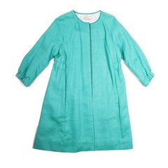 NINA RICCI Coat in Mint Colored Canvas Size 38FR