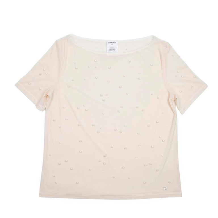Chanel Top with pearls 42FR