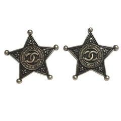 CHANEL 'Paris Dallas' Stud Earrings in Sheriff Star Shape