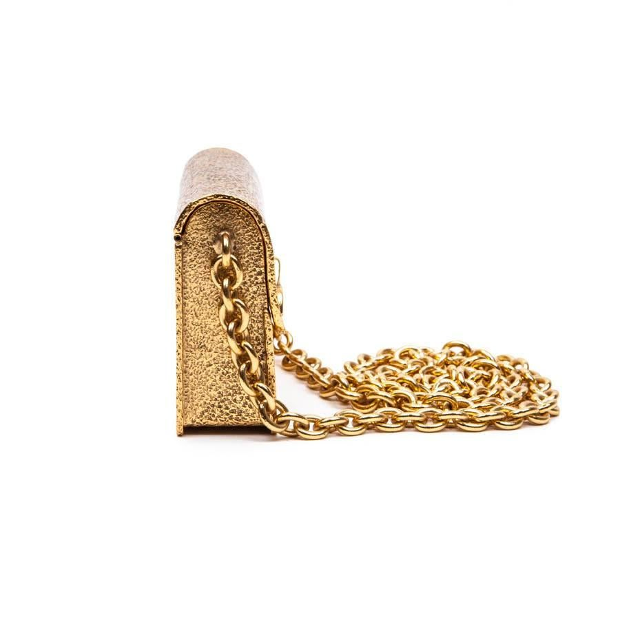 Christian Lacroix Vintage Christian Lacroix Minaudière In Hammered Gilded Metal
