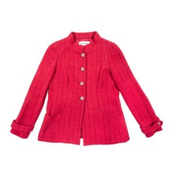 CHANEL 'Paris Bombay' Vest in Red Cotton Size 40 FR