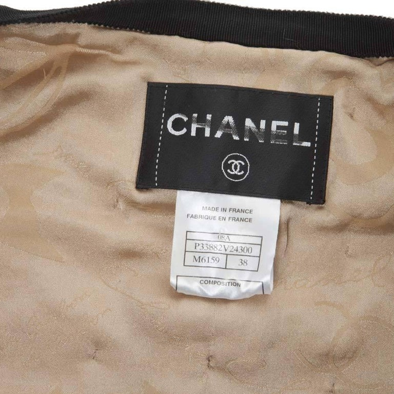 Collector CHANEL Jacket in Beige Wool Fully Studded Size 38FR For Sale 4