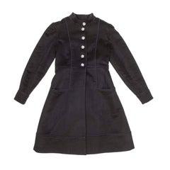 CHANEL 'Paris-Moscou' Coat in Black Cashmere Size 34FR