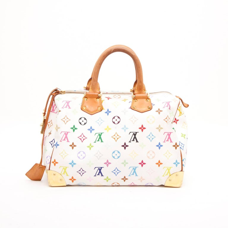 674f4883eae LOUIS VUITTON 'Speedy 30' Bag in Murakami Canvas