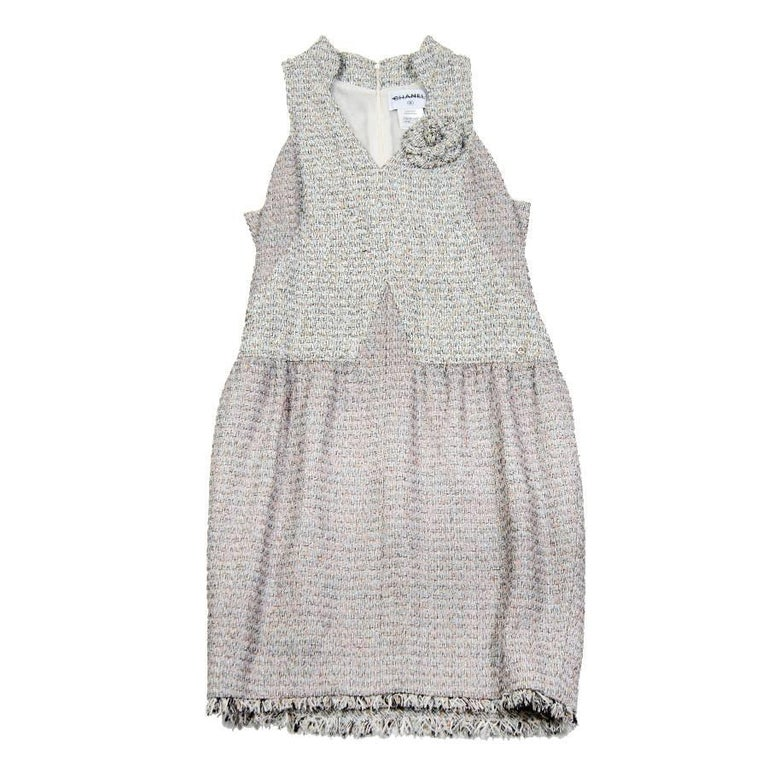 CHANEL Dress in Pastel Colors Tweed Size 42FR