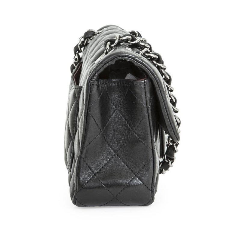 dd3eb596aa91 CHANEL Mini 'Timeless' Flap Bag in Quilted Smooth Black Leather In  Excellent Condition For