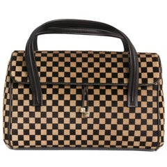 LOUIS VUITTON 'Damier Sauvage' Limited Edition Handbag in Calf Hair Leather