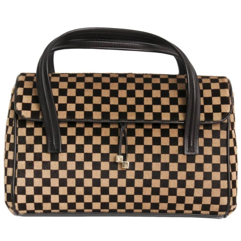 LOUIS VUITTON  Damier Sauvage  Limited Edition Handbag in Calf Hair Leather  at 1stdibs 1964b7a794aff