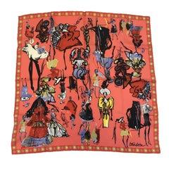 CHRISTIAN LACROIX Scarf in Multicolored Silk