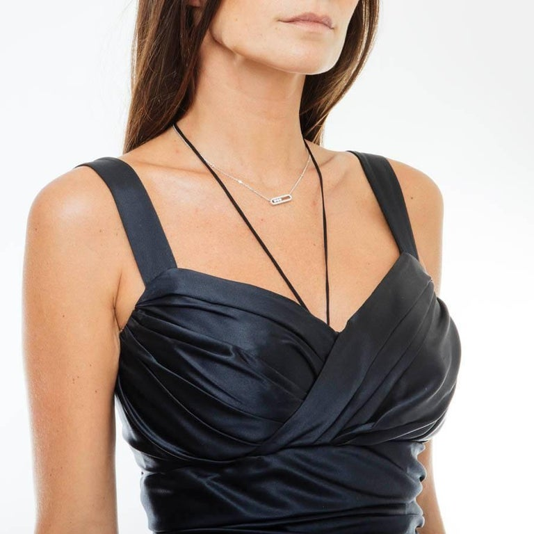 DOLCE & GABBANA Cocktail Dress in Black Silk Size 40 IT For Sale 2