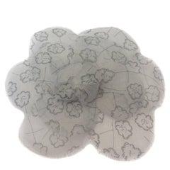 CHANEL Camellia Brooch in Gray Veil
