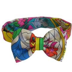 HERMES Multicolored Silk Bow Tie
