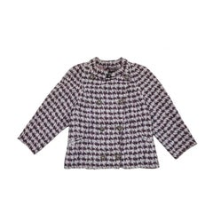 CHANEL Cross Jacket in Two Tones Purple Cotton Size 40EU