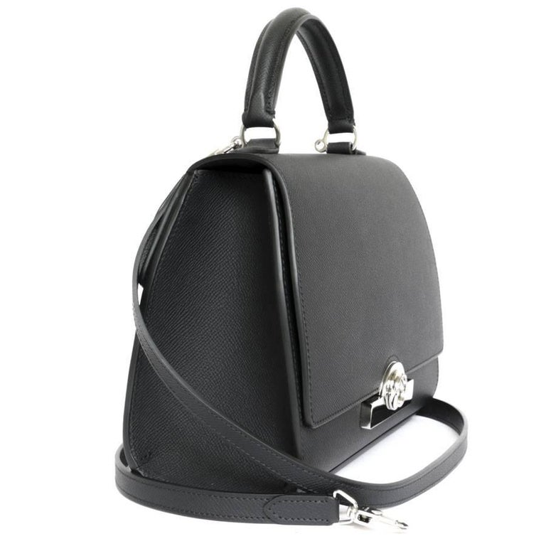 Women's or Men's MOYNAT 'Rejane' Bag in Black Calf Leather For Sale