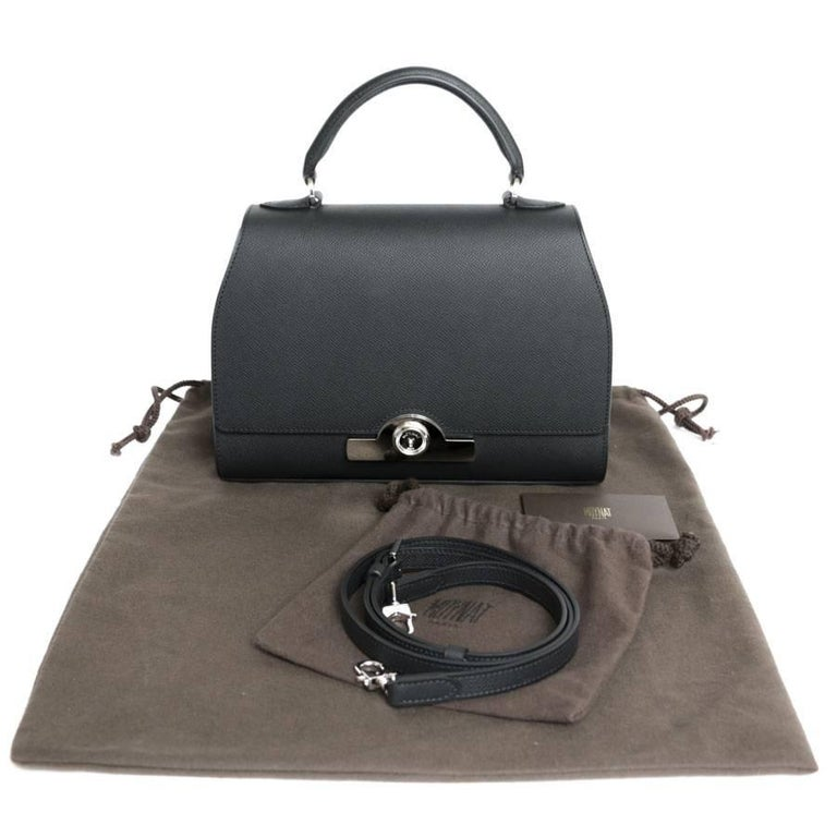 MOYNAT 'Rejane' Bag in Black Calf Leather For Sale 4