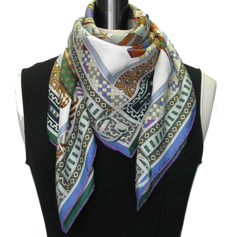 Hermes Collier De Chien Scarf In Multicolored Silk At