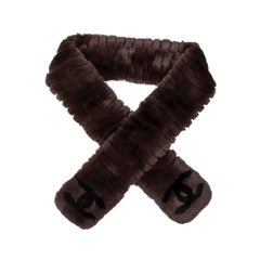 CHANEL Scarf in Brown Orylag Fur