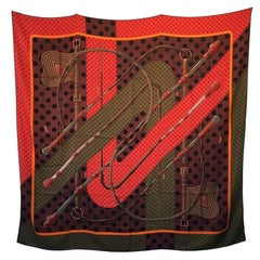 HERMES Shawl 'Clic Clac' in Multicolored Cashmere and Silk