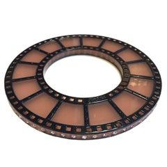 JEAN PAUL GAULTIER Strip of Film Bracelet in Black and Old Pink Resin