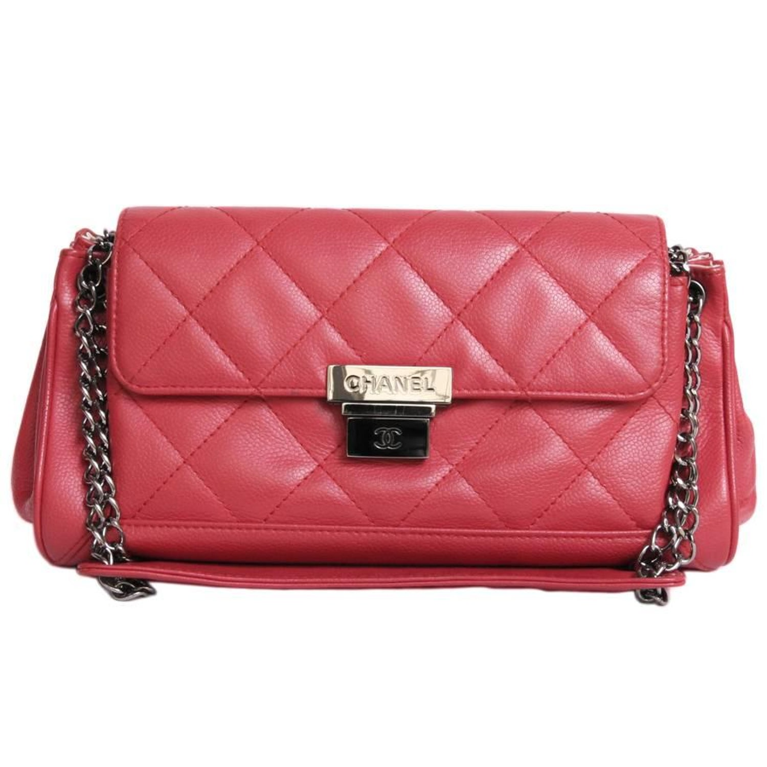 b583b8ad5c63 CHANEL  Accordion  Shoulder Bag in Red Caviar Leather at 1stdibs