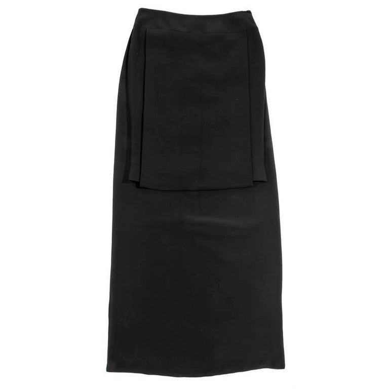 GIVENCHY Black Pencil Skirt in Viscose Size 40EU