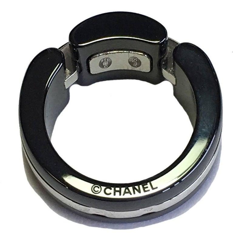 Chanel Ultra Model Ring I White Gold Black Ceramic And