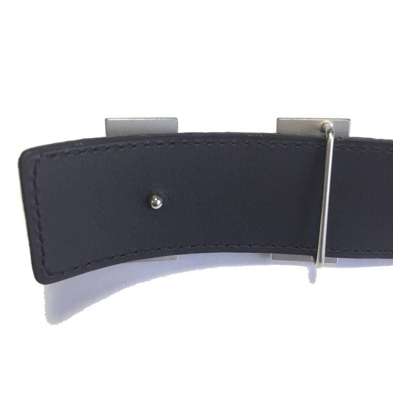 Men's HERMES men Belt in Brown Crocodile Porosus Leather Size 95 EU For Sale