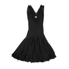 Christian Dior By John Galliano Evening Dress in Black Silk Size 38EU