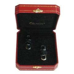 CARTIER Cufflinks in Palladium Sterling Silver