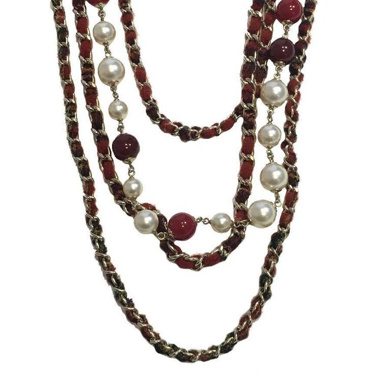 CHANEL Necklace from 'Paris-Edinburgh' Métiers d'Art Collection In Excellent Condition For Sale In Paris, FR