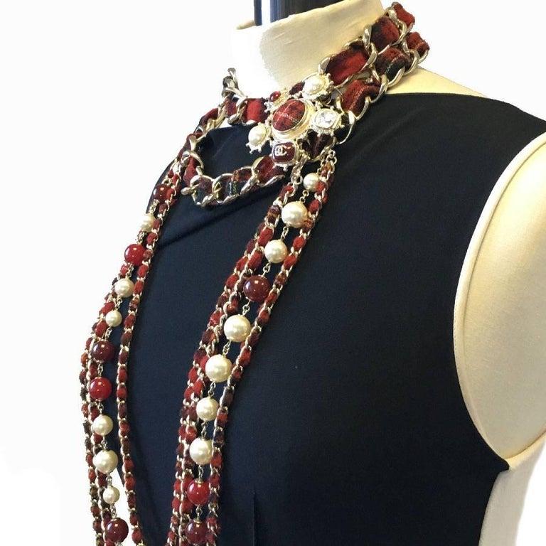 CHANEL Necklace from 'Paris-Edinburgh' Métiers d'Art Collection For Sale 6