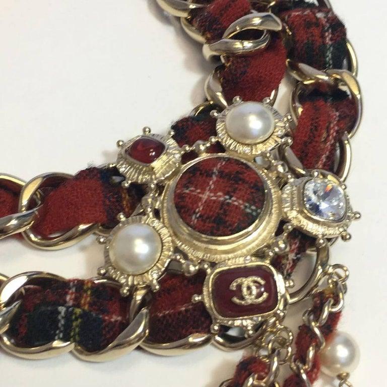 CHANEL Necklace from 'Paris-Edinburgh' Métiers d'Art Collection For Sale 2