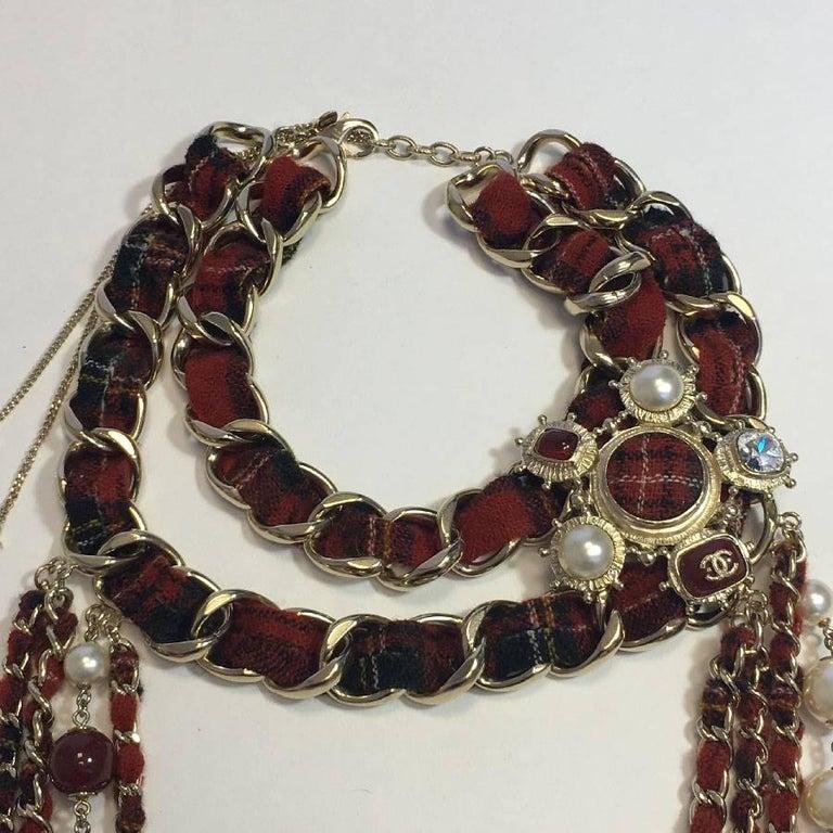 Women's CHANEL Necklace from 'Paris-Edinburgh' Métiers d'Art Collection For Sale