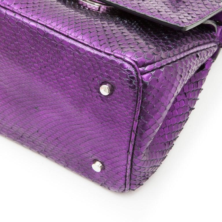 Christian Dior Metallic Purple Python Double Flap Bag For ...