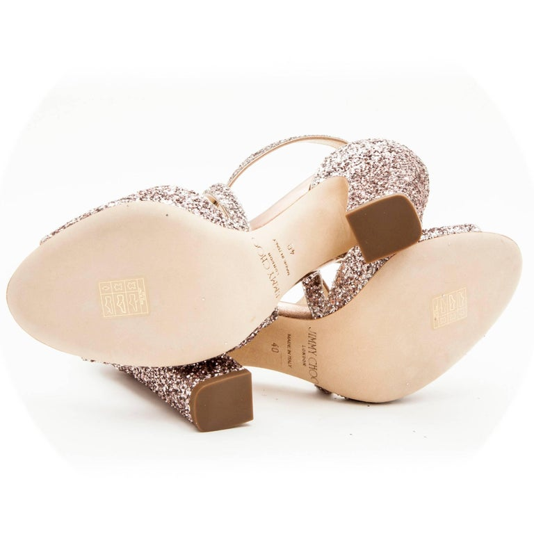 d4ac9465bc3 Women's Jimmy Choo High Heel Sandals in Pink Sequins Size 40EU For Sale
