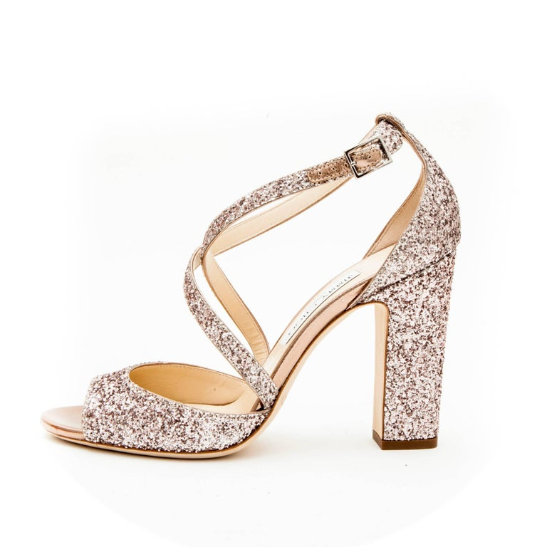 6120c02c9b5 Jimmy Choo High Heel Sandals in Pink Sequins Size 40EU For Sale at ...
