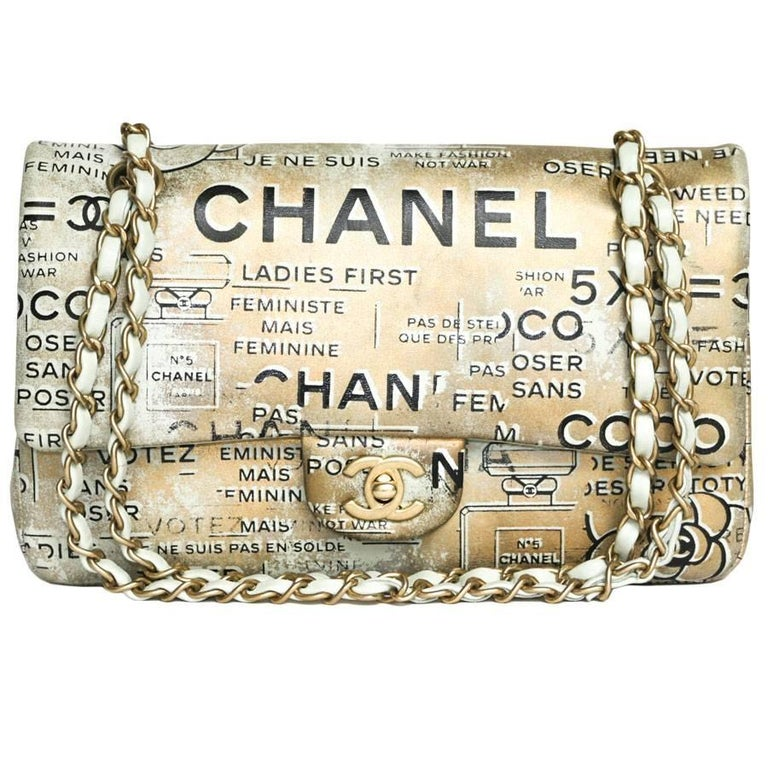 CHANEL Limited Edition Timeless 'Coco' Double Flap Bag in Golden Leather