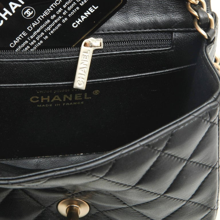 d069f64c90f4 Mini CHANEL Bag in Black Quilted lambskin Leather at 1stdibs