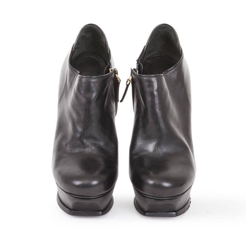 a9396e893ebbd Yves Saint Laurent Black Leather Platform Boots Size 37 EU