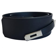 "Hermes Belt ""Diane"" in Black Swift Leather Size 85"