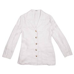 CHANEL Jacket in Ecru Linen Size 38FR